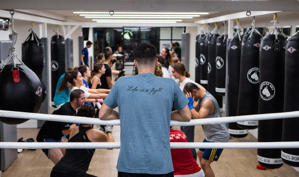 entrenamiento de boxeo